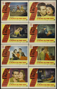 "A Place In The Sun (Paramount, 1951). Lobby Card Set of 8 (11"" X 14""). Drama. Directed by George Stevens. Star..."
