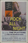 """Movie Posters:Rock and Roll, Rock All Night (AIP, 1957). One Sheet (27"""" X 41""""). Crime. Directedby Roger Corman. Starring Dick Miller, Russell Johnson, A..."""