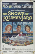 "Movie Posters:Adventure, The Snows of Kilimanjaro (20th Century Fox, 1952). One Sheet (27"" X41""). Romantic Adventure. Directed by Henry King. Starri..."