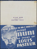"Movie Posters:Drama, The Story of Louis Pasteur (Warner Brothers, 1935). Herald (5.75"" X 8.5""). Biographical Drama. Directed by William Dieterle...."