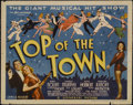 """Movie Posters:Musical, Top of the Town (Universal, 1937). Title Lobby Card (11"""" X 14""""). Musical. Directed by Ralph Murphy and Walter Lang. Starring..."""