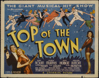 "Top of the Town (Universal, 1937). Title Lobby Card (11"" X 14""). Musical. Directed by Ralph Murphy and Walter..."
