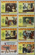 """Movie Posters:Adventure, Untamed (20th Century Fox, 1955). Title Lobby Card (11"""" X 14"""") andLobby Cards (7) (11"""" X 14""""). Adventure. Directed by Henry...(Total: 8 Items)"""
