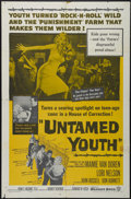 "Movie Posters:Cult Classic, Untamed Youth (Warner Brothers, 1957). One Sheet (27"" X 41"").Crime. Directed by Howard W. Koch. Starring Mamie van Doren, L..."