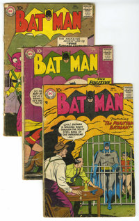 Batman Group (DC, 1957-70) Condition: Average GD. This group contains Batman issues #110 (Joker story), 123 (Joker story...