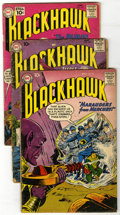 Silver Age (1956-1969):Adventure, Blackhawk Group (DC, 1959-68). Group of ten Blackhawk comics includes #136 (GD+), 148 (FR), 156 (FR), 161 (GD+), 188 (VG... (Total: 10 Comic Books)