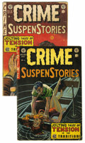 Golden Age (1938-1955):Crime, Crime SuspenStories Group (EC, 1953-54). Lot consists of two books from the Crime SuspenStories title including #16 (GD+... (Total: 2 Comic Books)