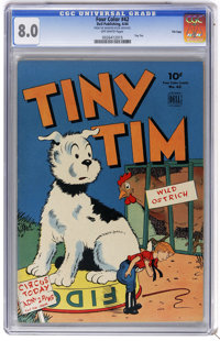 Four Color #42 Tiny Tim File Copy (Dell, 1944) CGC VF 8.0 Off-white pages. Overstreet 2006 VF 8.0 value = $275. CGC cens...