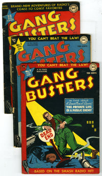 Gang Busters Group Plus (DC, 1945-50) Condition: Average GD. This group contains Gang Busters #2, 3, 15, 16, and 18, plu...