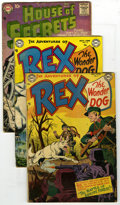 Silver Age (1956-1969):Horror, House of Mystery and Others Group (DC, 1953-63). Group of six DCbooks includes The Adventures of Rex the Wonder Dog #4 ... (Total:6 Comic Books)