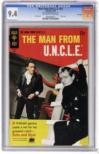 Man from U.N.C.L.E. #22 File Copy (Gold Key, 1969) CGC NM 9.4 Off-white to white pages. Joe Certa art. Photo cover. Over...