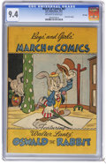 Golden Age (1938-1955):Funny Animal, March of Comics #67 File Copy (K. K. Publications, Inc., 1951) CGCNM 9.4 Off-white to white pages. Oswald the Rabbit. Overs...