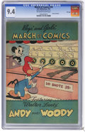 Golden Age (1938-1955):Funny Animal, March of Comics #76 File Copy (K. K. Publications, Inc., 1951) CGCNM 9.4 Off-white to white pages. Andy Panda and Woody Woo...