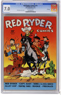 Golden Age (1938-1955):Western, Red Ryder Comics #11 File Copy (Dell, 1943) CGC FN/VF 7.0 Off-white pages. Fred Harmon cover and art. Overstreet 2006 FN 6.0...