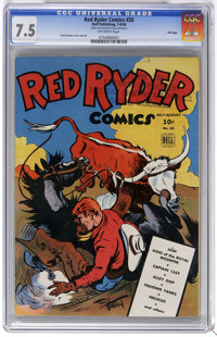 Red Ryder Comics #20 File Copy (Dell, 1944) CGC VF- 7.5 Off-white pages. Fred Harman cover and art. Overstreet 2006 VF 8...