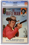 Silver Age (1956-1969):Western, The Rifleman #20 File Copy (Gold Key, 1964) CGC VF/NM 9.0 Off-whiteto white pages. Photo cover of Chuck Connors and Johnny ...
