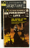 "Bronze Age (1970-1979):Horror, Sinister House of Secret Love and Dark Mansion of Forbidden LoveGroup (DC, 1971). DC explores the dangerous side of ""love"" ...(Total: 2 Comic Books)"
