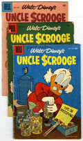 Silver Age (1956-1969):Cartoon Character, Uncle Scrooge Group (Dell, 1956-60) Condition: Average GD. Lot of six Uncle Scrooge comics contains #15, 17, 23, 25, 30,... (Total: 6)
