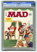 """Magazines:Mad, Mad #108 (EC, 1967) CGC VF 8.0 Off-white to white pages. """"Hogan'sHeroes"""" TV spoof. """"Sound of Music"""" parody. Santa Clause fo..."""