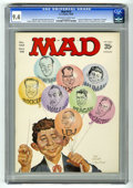 Magazines:Mad, Mad #122 (EC, 1968) CGC NM 9.4 Off-white to white pages. NormanMingo and Mort Drucker cover. Ronald Reagan photo inside. Pr...