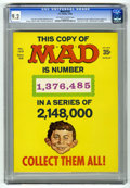 Magazines:Mad, Mad #123 (EC, 1968) CGC NM- 9.2. Manufactured with one of three fake serial numbers on the cover. This one has #1,376,485. M...