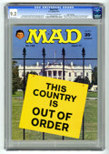 """Magazines:Mad, Mad #142 Gaines File pedigree (EC, 1971) CGC NM- 9.2 Off-white towhite pages. Photo cover of the White House. Parodies of """"..."""