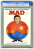 """Magazines:Mad, Mad #145 Gaines File pedigree (EC, 1971) CGC NM 9.4 White pages.""""Five Easy Pieces"""" and """"Owl and the Pussycat"""" parodies. Inf..."""
