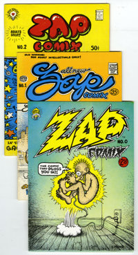 Zap Comix Group (Apex Novelties, 1968-2005). This group of sixteen Zap Comix represents the entire run of the undergroun...