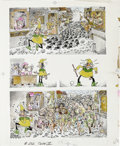 Original Comic Art:Covers, Sergio Aragones - Mad #232 Back Cover Original Art (EC, 1982). Whenthe town moneyman reneges on paying the Pied Piper for r...