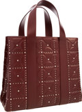 "Luxury Accessories:Bags, Alaia Burgundy Leather Tote Bag with Silver Hardware. ExcellentCondition. 14"" Width x 12"" Height x 7"" Depth. ..."