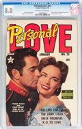 Golden Age (1938-1955):Romance, Personal Love #25 (Famous Funnies, 1954) CGC VF 8.0 Off-white towhite pages....