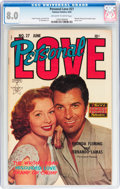 Golden Age (1938-1955):Romance, Personal Love #27 (Famous Funnies, 1954) CGC VF 8.0 Off-white towhite pages....