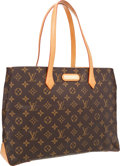 "Luxury Accessories:Accessories, Louis Vuitton Classic Monogram Canvas Wilshire Tote Bag .Excellent Condition. 14.5"" Width x 10.5"" Height x 4.5""Depth..."