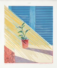 DAVID HOCKNEY (British, b. 1937) Sun, State I, 1973 Lithograph in colors 30-1/4 x 25-1/4 inches (