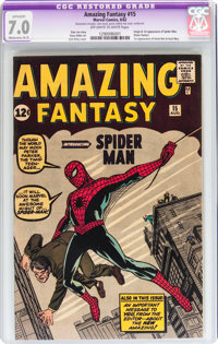 Amazing Fantasy #15 (Marvel, 1962) CGC Apparent FN/VF 7.0 Moderate (A-3) Off-white to white pages