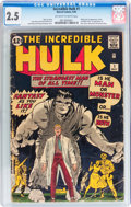 Silver Age (1956-1969):Superhero, The Incredible Hulk #1 (Marvel, 1962) CGC GD+ 2.5 Off-white towhite pages....