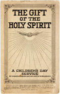 Books:Pamphlets & Tracts, [Hymnal]. C. Harold Lowden and Rev. Rufus W. Miller. The Gift of the Holy Spirit. Philadelphia: Heidelberg Press, 19...