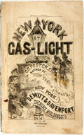 Books:Travels & Voyages, G.G. Foster. New York by Gas-Light. New York: Dewitt & Davenport, 1850. Octavo. Publisher's printed wrappers. Some c...