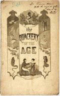 Books:Literature Pre-1900, Augustus Mason. INSCRIBED. The Quackery of the Age: A Satire onthe Times. Boston: White, Lewis & Potter, 1845. Octa...