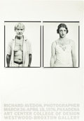 Memorabilia:Poster, Richard Avedon Exhibit Poster Signed by the Artist (1976)....