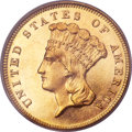 Three Dollar Gold Pieces, 1881 $3 MS64 PCGS. CAC....