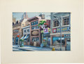 "Animation Art:Production Drawing, Robert Schaefer Slimer and the Real Ghostbusters ""The Joke'sOn Ray"" Key Background Animation Art (DiC Entertainme..."