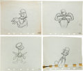 Animation Art:Production Drawing, The Village Smithy Donald Duck Production Drawing AnimationArt Group (Walt Disney, 1942).... (Total: 4 Original Art)