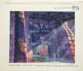 "Animation Art:Production Drawing, Abel Laxamana Slimer and the Real Ghostbusters ""The BrooklynTriangle"" Key Background Animation Art (DiC Entertain..."