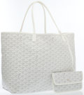 Luxury Accessories:Bags, Goyard White Goyardine Canvas St. Louis GM Tote Bag. ...