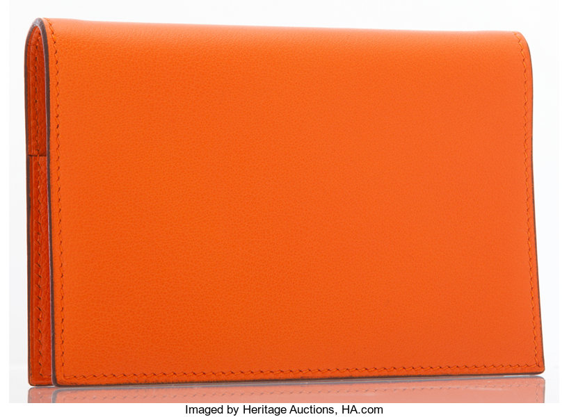 a8631511d8e Luxury Accessories:Accessories, Hermes Orange H Chevre Leather Vision Agenda  Cover .