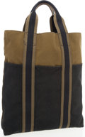 Luxury Accessories:Bags, Hermes Olive & Black Canvas Fourre Tout Cabas Tote Bag. ...