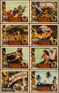 """Movie Posters:Documentary, Man Hunters of the Caribbean (Inter Continent, 1938). Lobby Card Set of 8 (11"""" X 14""""). Documentary.. ... (Total: 8 Items)"""