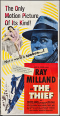 "Movie Posters:Crime, The Thief (United Artists, 1952). Three Sheet (41"" X 79""). Crime.. ..."