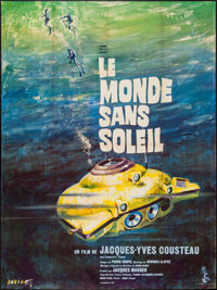 """World without Sun (Columbia, 1964). French Grande (46"""" X 61""""). Documentary"""
